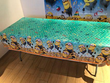 Minion Table Cloth Plastic