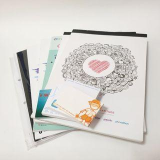 Assorted foolscap and post it pad