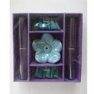 泰國 薰香盒組 附花形燭台