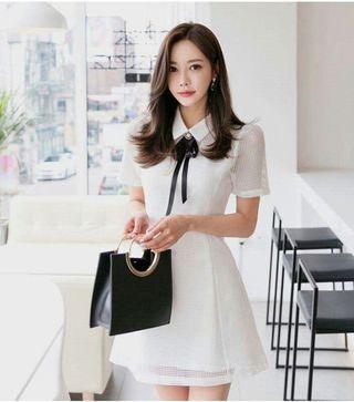 🚚 FS17087# 韓版網紗透視修身連衣裙