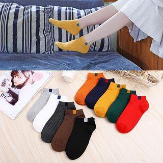 Women Four Seasons Solid Candy Color Deodorant Sweet Boat Socks
