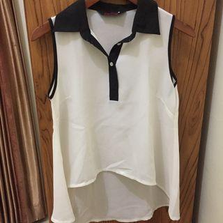 White Collar Top