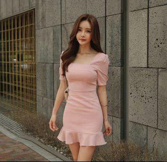 🚚 FS14762# 收腰顯瘦包臀魚尾連衣裙