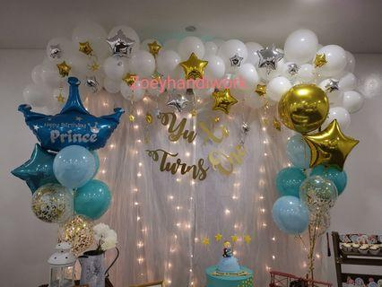 le Petit Prince balloon decoration with twinkle stars 🌟