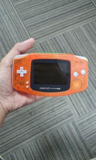 Game Boy Advance with Pokémon Leaf Green