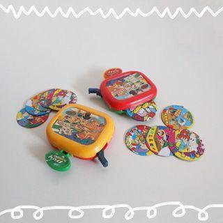 🚚 早期紙牌噴射器玩具