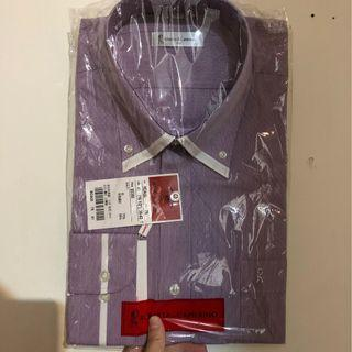 Roberta di Camerino 義大利 台灣製造 細條紋 紫紅 襯衫