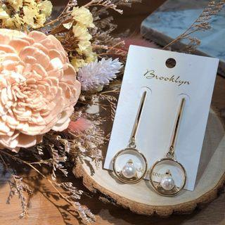 🚚 希臘式的浪漫珍珠耳環