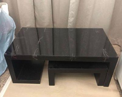 Petite black coffee table