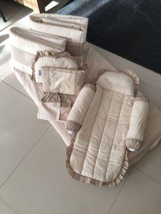 1 Bed & 1 set cushion Baby Cot