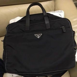 Prada Men nylon laptop bag
