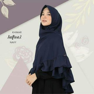 (NEW GOODS) Khimar Safira 2 Navy by Zizara