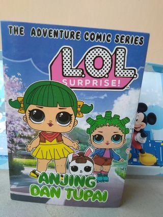 #mauthr Buku cerita anak LOL Surprise The Adventure Comic Series - Anjing & Tupai