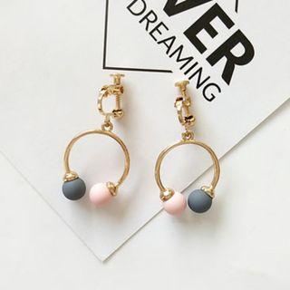 (Clip On) Orb Twinning Earring in Pink/Grey