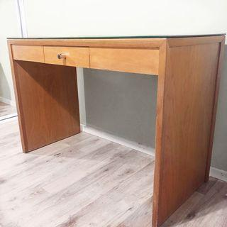 Timber/Glass Office Desk