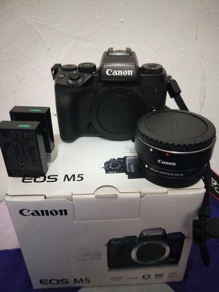 🚚 Canon M5 with adapter + canon 50mm f1.8 STM