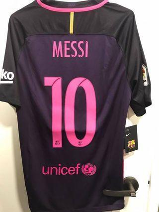 巴塞隆那Barcelona 16/17 作客粉紅色字波衫球衣/全新連牌中碼