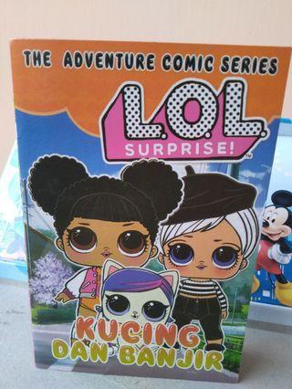 #mauthr Buku Cerita The Adventure Comic Series - LOL Surprise Kucing & Banjir