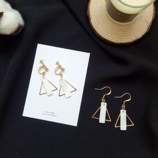 (Clip On) Vit's Marble Geometry Earrings