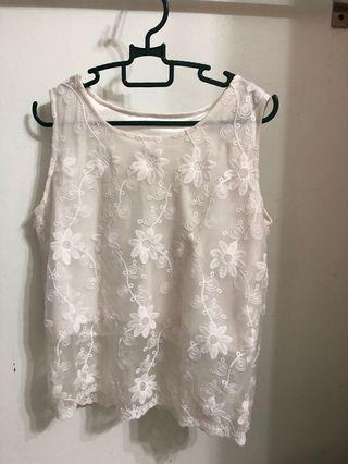 White Lace Sleepless Top