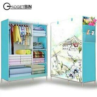 🔥3D Pattern King Size  Dust Cover Curtain Wardrobe 3D🔥