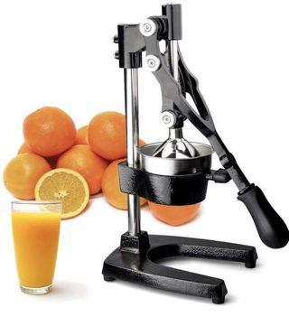 (2852) TrueCraftware Commercial Citrus Juicer Hand Press - Manual Juicer Extractor - Fruit Juice Press - Heavy Duty Cast Iron Citrus Juicer - Citrus Press - Citrus Squeezer for Lemons, Limes and Oranges etc
