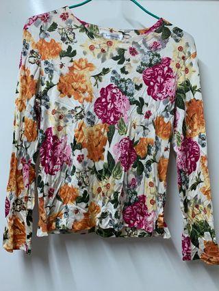 絲質Floral Top