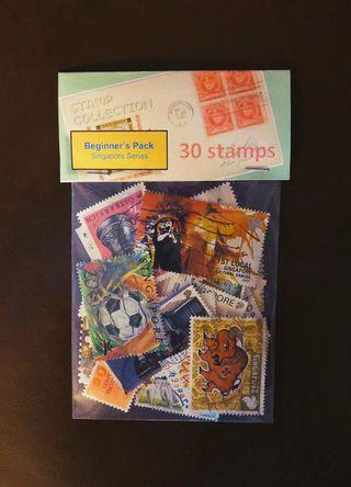🚚 Beginner's Pack (Singapore Series) for Young Stamp Collectors