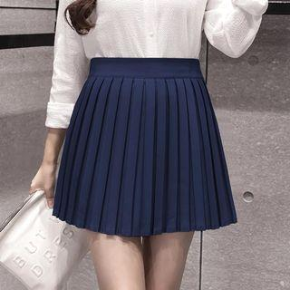 🚚 Navy Blue Pleated Skirt