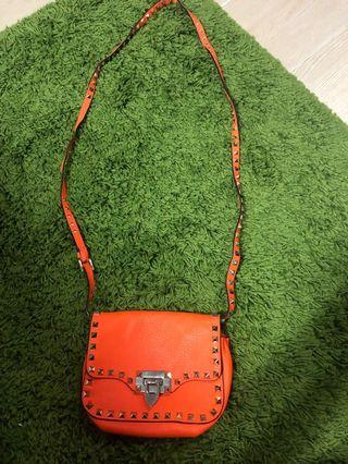 valentino small crossbody bag orange