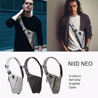 Authentic NIID NEO Shoulder Bag/ FINO GEN II/ Chest Pack/ Chest Bag/ Sling/ Tactical/ Cycling/ Trekking/ Anti-Theft