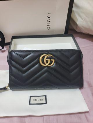 Gucci Marmont 拉鏈長銀包(100% new & real)
