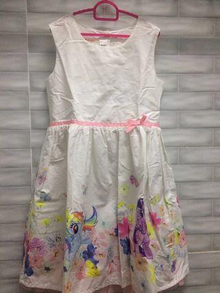 Girl My Little Pony Dress 7-8yrs by H&M