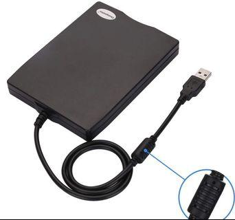 """(2854) 3.5"""" USB External Floppy Disk Drive Portable 1.44 MB FDD for PC Windows 2000/XP/Vista/7/8/10,for Mac,No Extra Driver Required,Plug and Play,Black"""