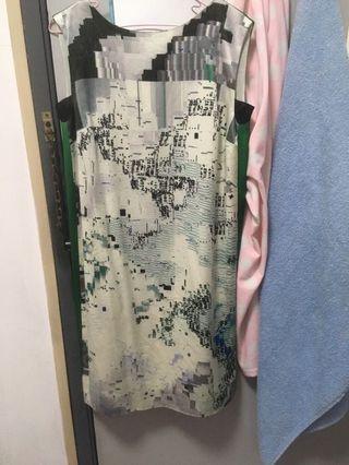 Artsy green Dress