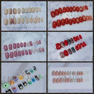 Fake nail handmade desain