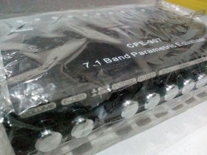 Caliber pre amp 7.1band equalizer FREE CROSSOVER