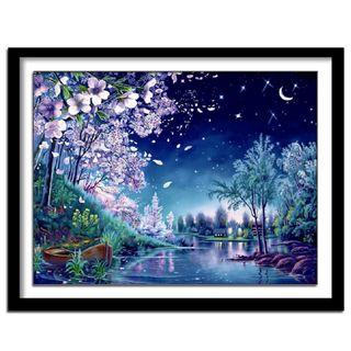DIY [Starry Night] Full 5D Diamonds Painting (Canvas Size: 50x40cm)