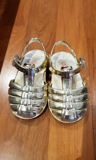 "🚚 Cinderella ""Glass"" Jelly Slippers - SEED Gold Sandals"