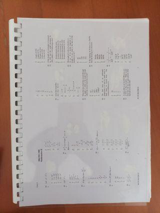 DSE Maths Past paper  1980-2017