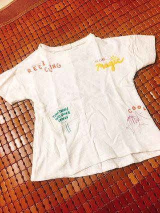 🚚 二手 棉上衣 Zara girl 5歲 110公分 T恤