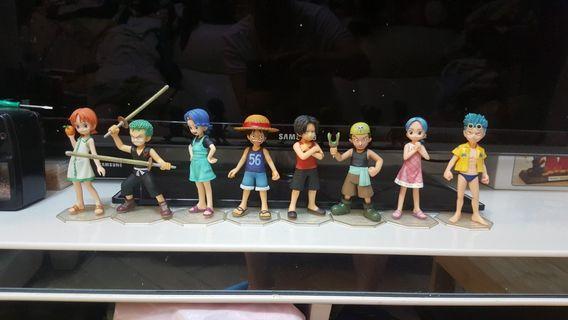 海贼王 one piece P.O.P. 童年路飛,艾斯,卓洛,娜美,娜美家姐,烏索普,比比公主