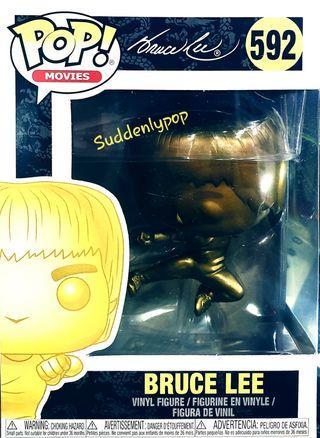 Funko Pop Movies Bruce Lee #592 (Flying Kick Gold)