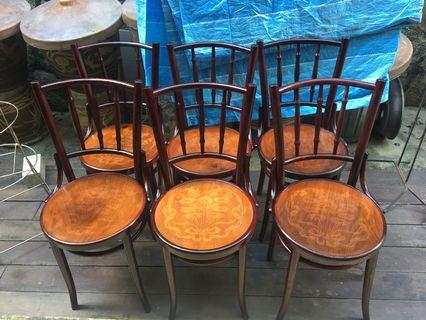🚚 Restored antique Poland Kopitiam Chairs