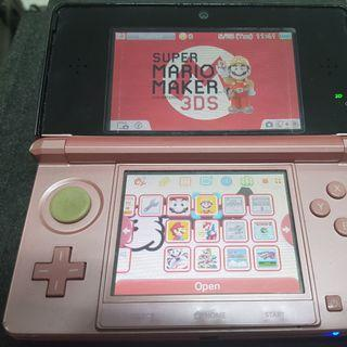 Pre-owned Nintendo 3DS Pearl Pink color with many Mario games