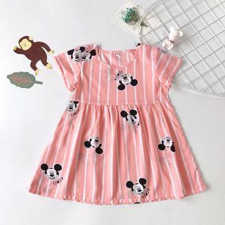 🚚 Mickey Pink Dress Summer