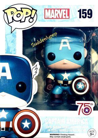 Funko Pop Marvel Captain America #159 (75th Anniversary)