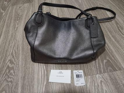 Coach gunmetal handbag