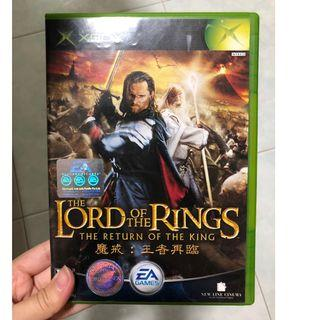 Xbox original Lord of the Rings (LOTR) Return of the King