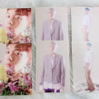 EXO CBX Blooming Days album official postcards